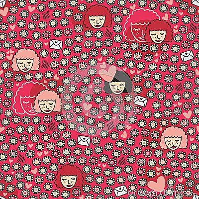 Valentine seamless pattern.