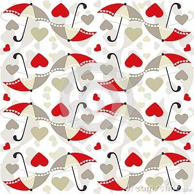 Free Valentine Seamless Pattern With Umbrellas - Vector Royalty Free Stock Photos - 65730558