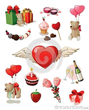 Free Valentine Set Stock Image - 23007001