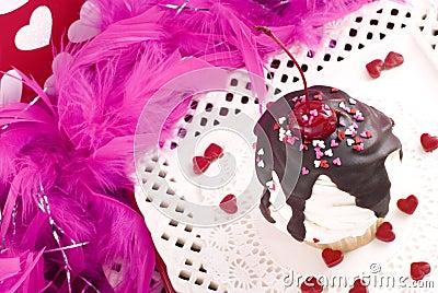 Valentine Sundae Cupcake