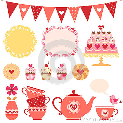 Free Valentine Tea Party Stock Photos - 36961343