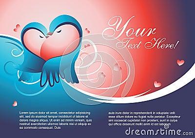 Valentine template vector