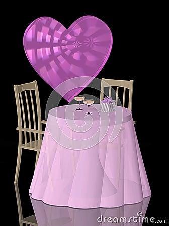 Valentine Theme Table