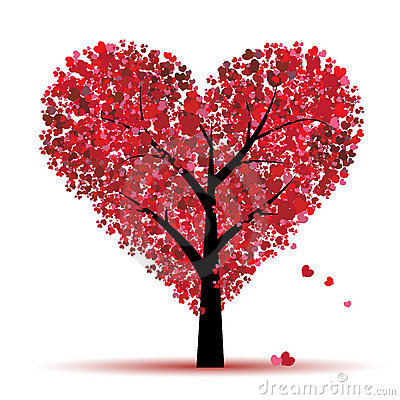 Free Valentine Tree, Love, Leaf From Hearts Royalty Free Stock Image - 12840776