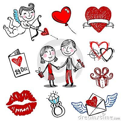 Valentine vector illustrations