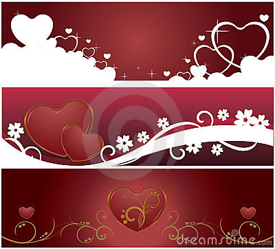 Valentine Web banners
