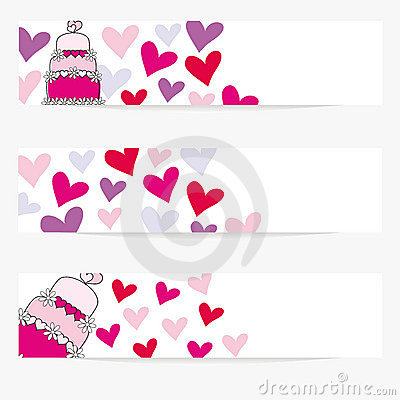 Valentine or wedding banners