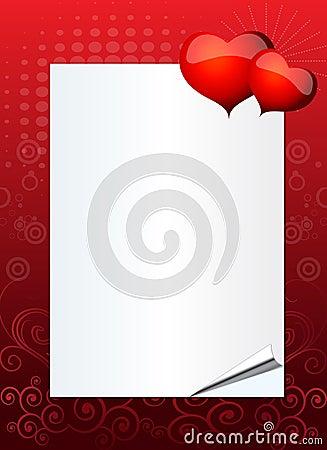 Valentine or wedding invitation