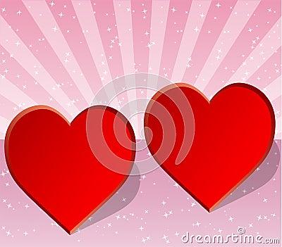 Valentine, wedding or love card