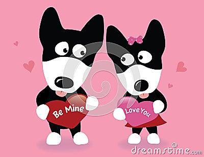 Valentine wolf dogs