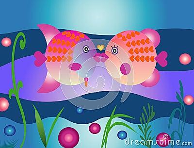 Valentines поцелуя рыб