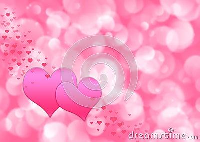 Valentines abstract illustration