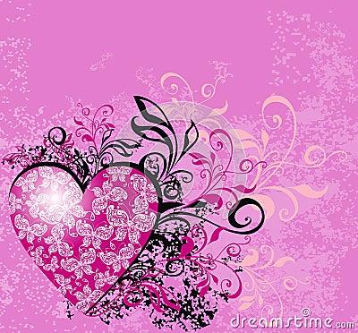 Valentines background. Vector illustration