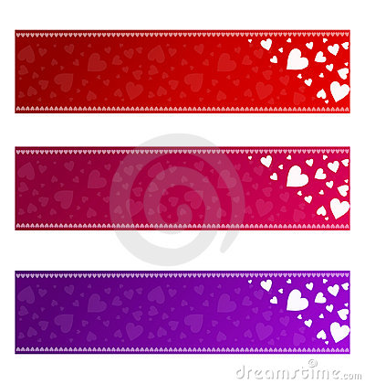 Valentines banners - vector