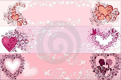 Valentines banners. Vector illustration