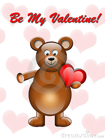 Valentines bear with heart