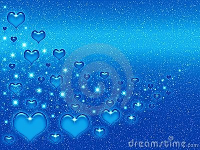 Valentines blue background