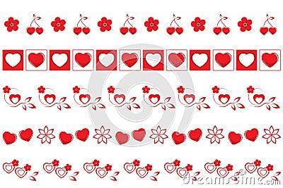 Valentines borders set #2