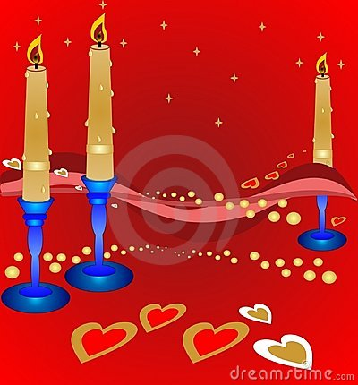Valentines candle light romance