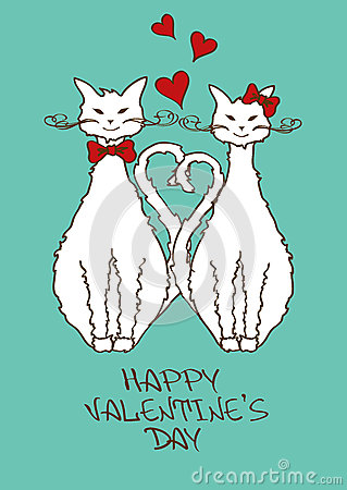 Valentines card with beloved cats