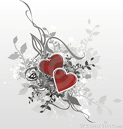 Valentines card illustration