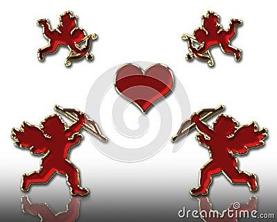 Valentines cupids