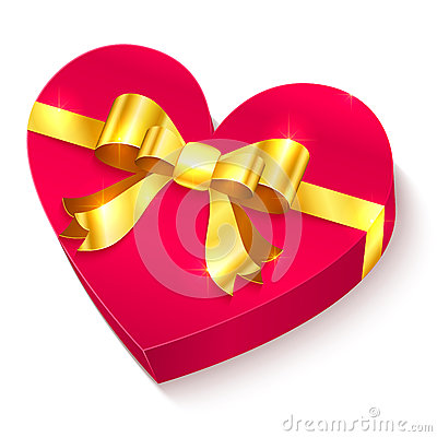 Valentines day 3D heart gift box