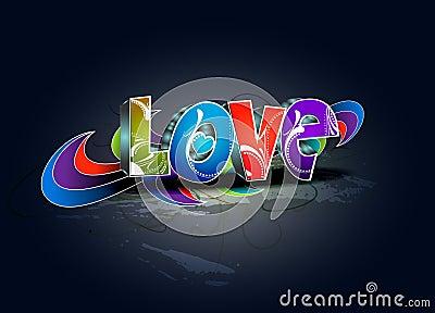 Valentines day 3d love design