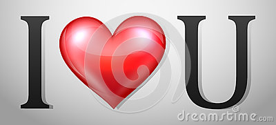 Valentines Day background with I Love You message Vector Illustration
