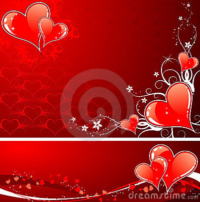 Free Valentines Day Background With Hearts And Florals Stock Image - 4010231