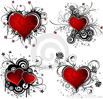 Free Valentines Day Background With Hearts And Flower Royalty Free Stock Photos - 4010338