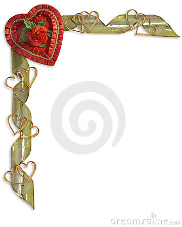 Free Valentines Day Border Royalty Free Stock Photos - 7959828