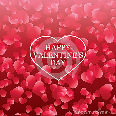 Valentines Day card, banner design