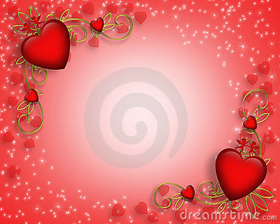 Valentines Day card border or background