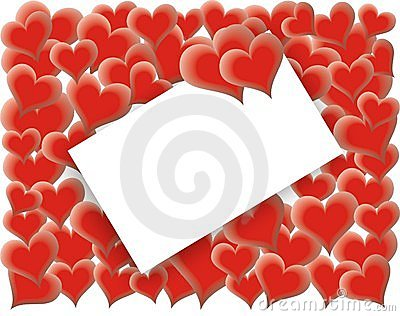 Valentines Day card - loving hearts -