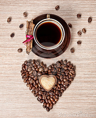 Free Valentines Day Coffee And Cinnamon Stock Photography - 22715082