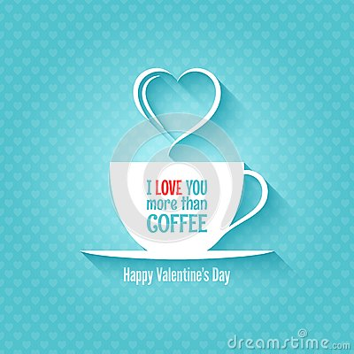 Free Valentines Day Coffee Cup Design Background Royalty Free Stock Images - 37007329