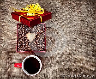 Valentines day coffee present