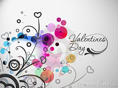 Valentines day colorful floral design