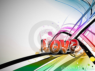 Valentines day colorful love design background