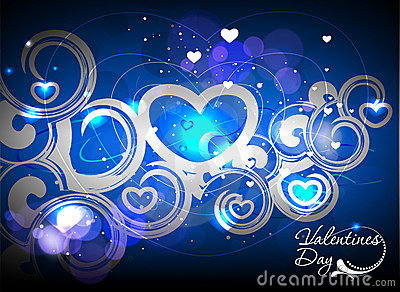 Valentines day colorful swirl background