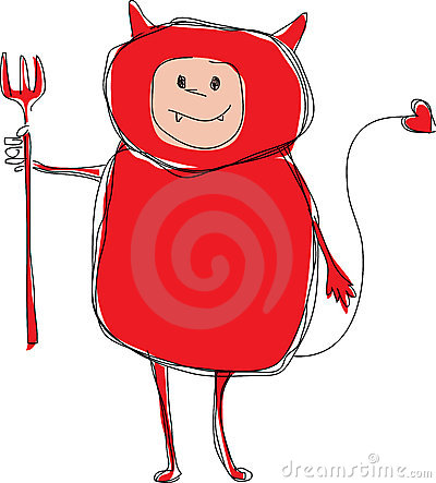 Free Valentines Day Devil Illustration Royalty Free Stock Images - 7288979