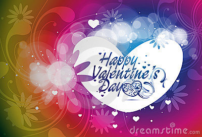 Valentines day floral background