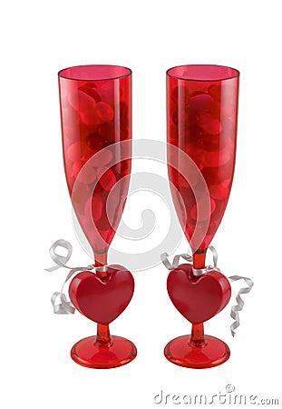 Valentines day glasses