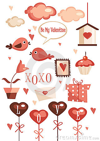 Valentines day graphic elements