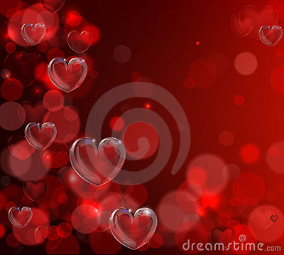 Free Valentines Day Heart Background Stock Images - 23235294