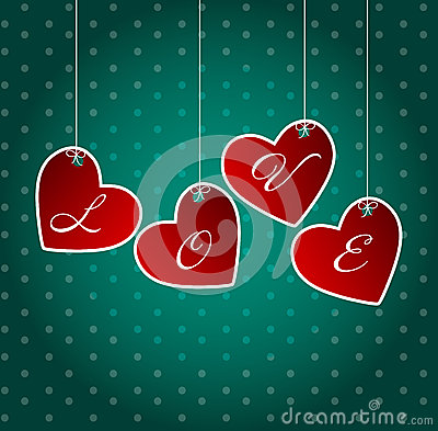 Valentines day heart backgroung, vector
