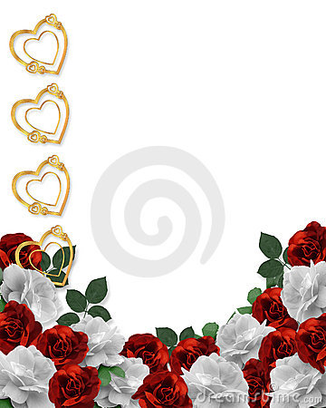 Free Valentines Day Hearts And Roses Border Stock Image - 8052531