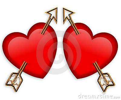 Valentines Day Hearts Arrows