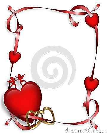 Free Valentines Day Hearts Border Stock Photo - 4101300
